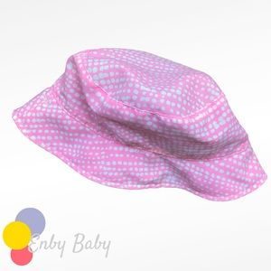 🍒$5 Add-on! Pink Reversible Baby Sunhat with SPF